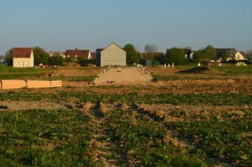 Création de chemin d'accès au chantier de construction près de Margaux